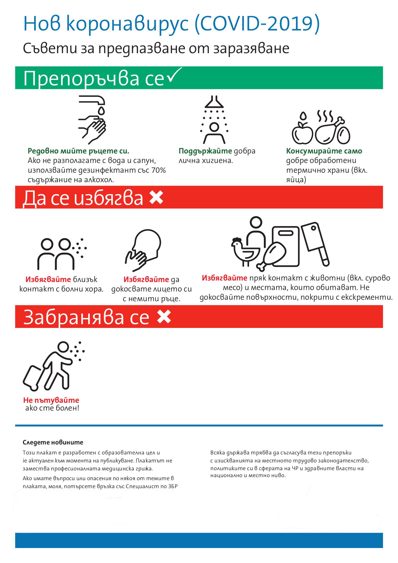 Коронавирус - съвети за предпазване от заразяване-1